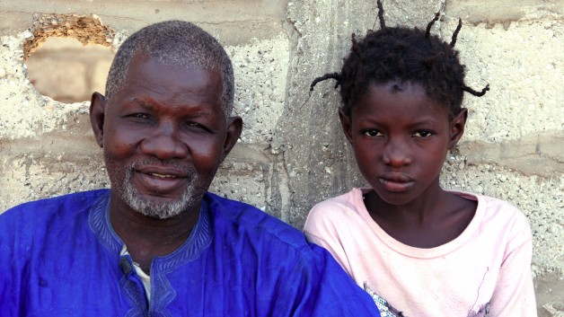 Father and daughter from Mauritania