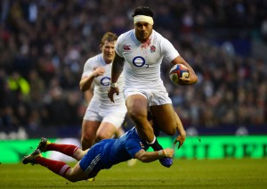 English National Rugby Team (white) vs. France