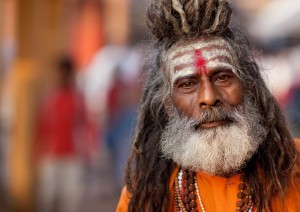 Sadhu, or wandering holy man, Varanasi, Uttar Pradesh, India